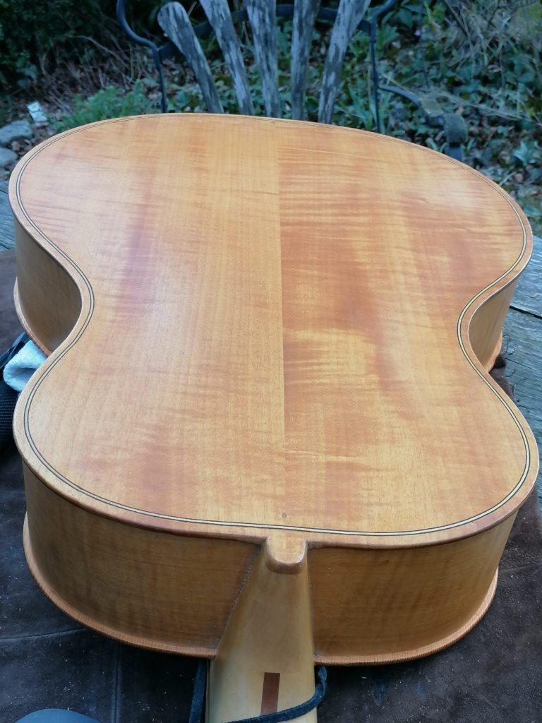 Archtop Gitarre Rückseite